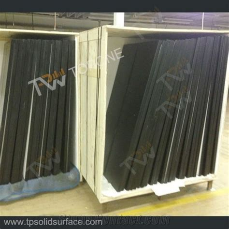 corian for sale black color square corian arcylic solid surface dinner