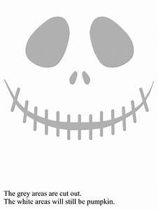 jack skellington face pumpkin carving template halloween With jack skellington face template