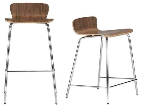 felix walnut bar stool counter stool crate and barrel