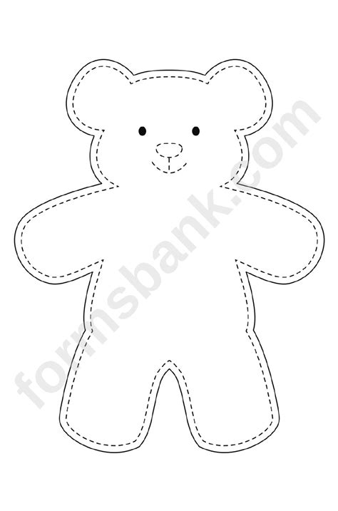 teddy bear template printable