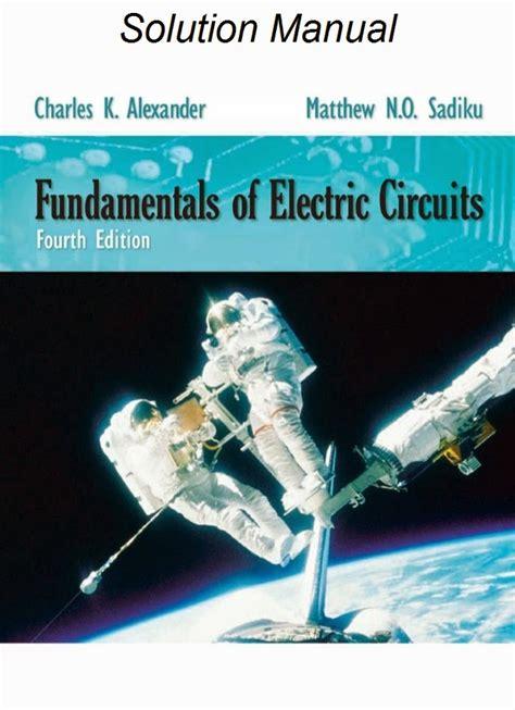 Fundamentals Electric Circuits Solutions Manual