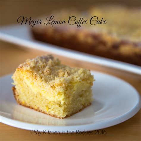 Perfect for afternoon tea or any special ocassion. Meyer Lemon Cream Cheese Coffee Cake - My Kitchen in the ...