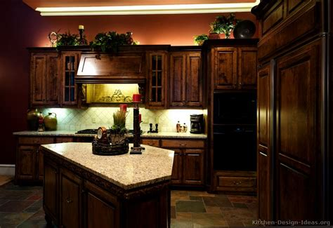 kitchen ideas with brown cabinets pictures of kitchens with cabinets and granite 8121