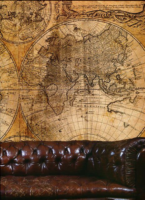 steampunk wall mural map large   galerie