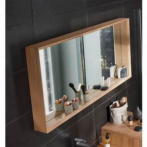 best miroir salle de bain bois photos seiunkelus With miroir de salle de bain bois