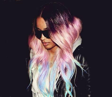 P A L E Pastel Paradise Rainbow Human Hair Extension