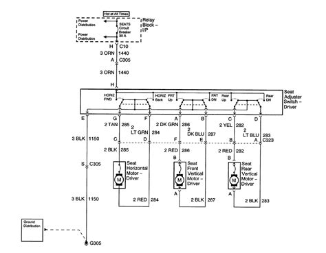 2003 Chevy Silverado Electrical Diagram by I A 2003 Avalanche The Driver S Power Seat Will Not