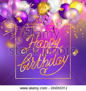 Background with gold and white balloons on strings with