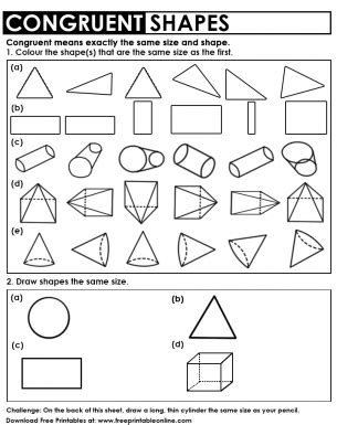 congruent shapes worksheet free printable worksheets shapes worksheets worksheets 3d