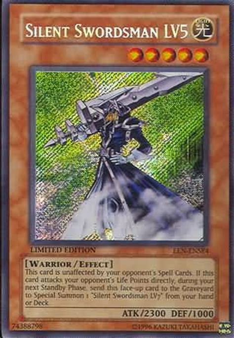 Silent Swordsman Deck 2010 by Silent Swordsman Lv5 Een Ense4 Secret Yu Gi Oh