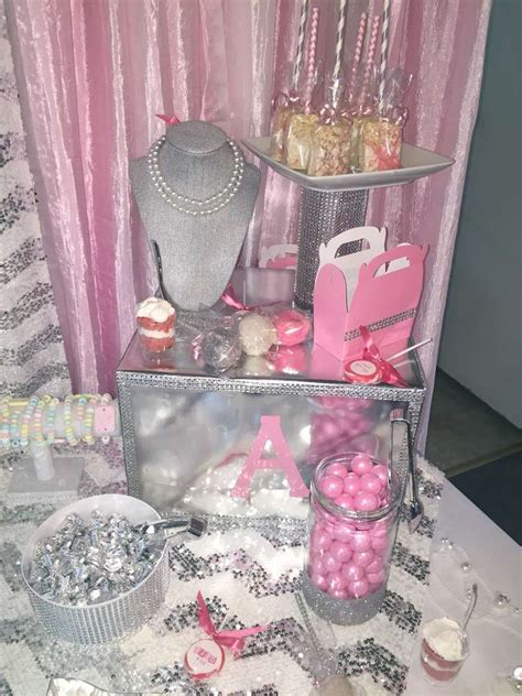 diamonds  pearls baby shower party ideas photo