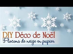 Deco Noel En Papier : faire des flocons en papier diy d corations de no l youtube ~ Melissatoandfro.com Idées de Décoration