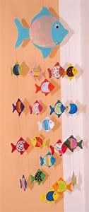 Bastelideen Sommer Kindergarten : blaues fisch mobile aus tonkarton f r wickelauflage laufstall als fensterbild fensterbild ~ Frokenaadalensverden.com Haus und Dekorationen