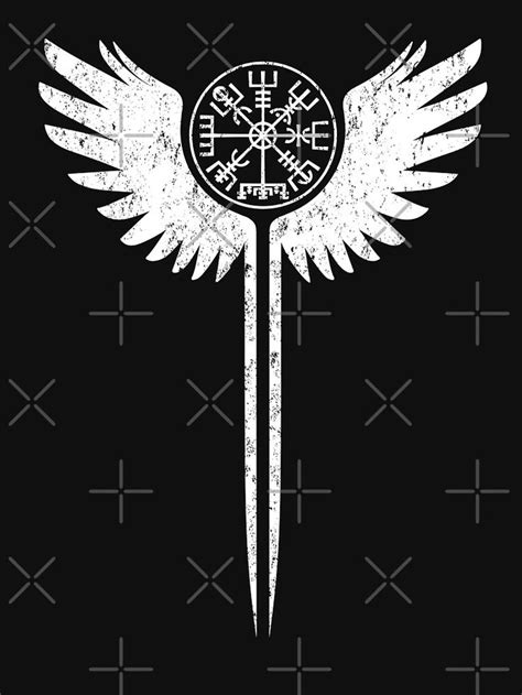 Vegvisir valkyrie wing turtle icon | Slim Fit T-Shirt in