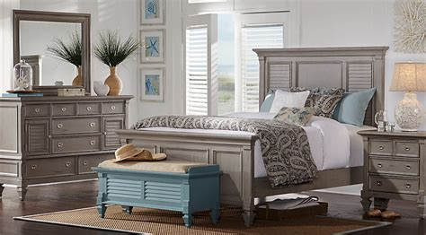 Belmar Gray 7 Pc King Panel Bedroom   King Bedroom Sets Colors