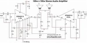 Stk4231 Ii 100w 100w Stereo Audio Amplifier Circuit