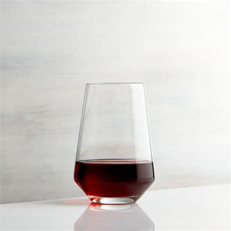stemless wine glass crate  barrel