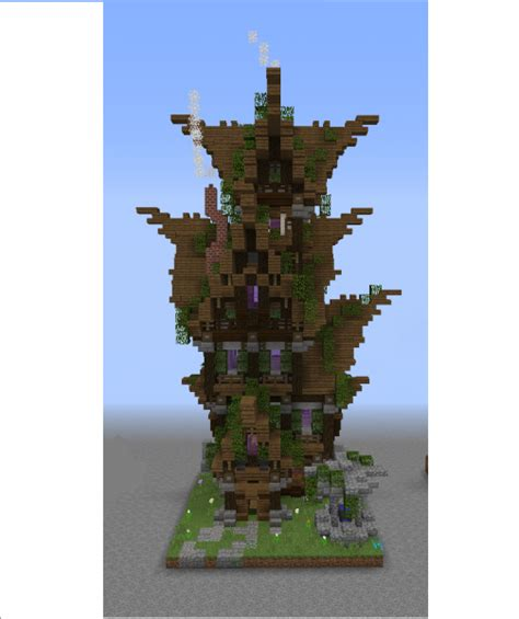 elven tall house grabcraft  number  source  minecraft buildings blueprints tips