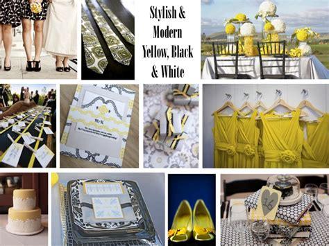 Modern Yellow, Black & White Inspiration Shoot