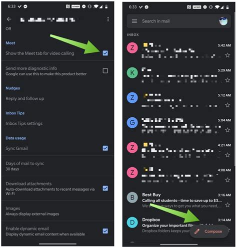 How to disable the Google Meet tab in Gmail for Android ...
