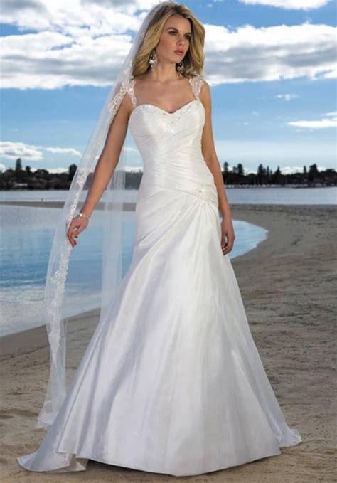 simple beach wedding dresses hairstyles  fashion