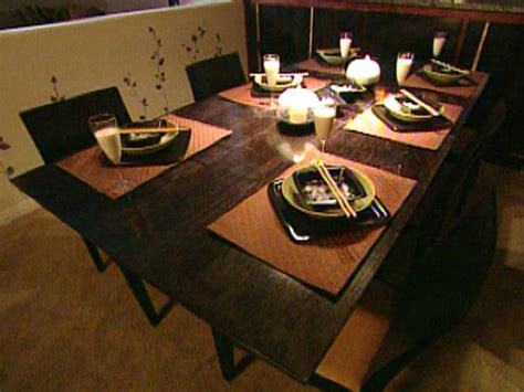build  expandable dining room table hgtv