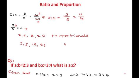 Ratio And Proportion 2  Ratio And Proportion Questions And Answers Youtube