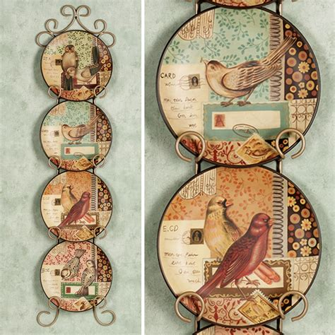 love notes messenger birds decorative plate set