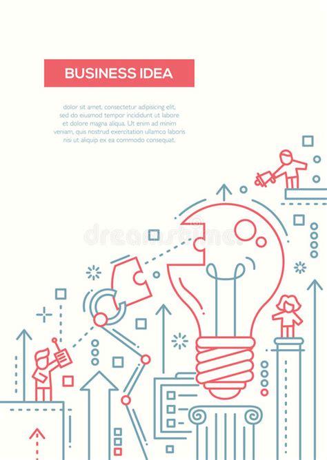 business idea  design brochure poster template