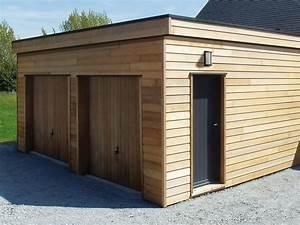 Garage Ossature Bois : garage en ossature bois environnement bois ~ Melissatoandfro.com Idées de Décoration