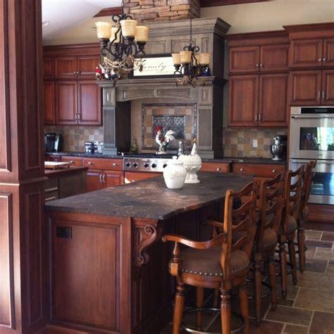 two tone kitchen island best 25 cherry wood kitchens ideas on 6437