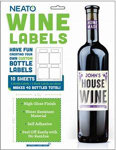 neato wine bottle labels high gloss 40 labels online With bottle label maker software