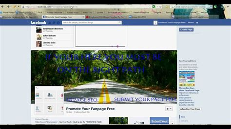 facebook fan page promotion how to promote your facebook fan page for free youtube