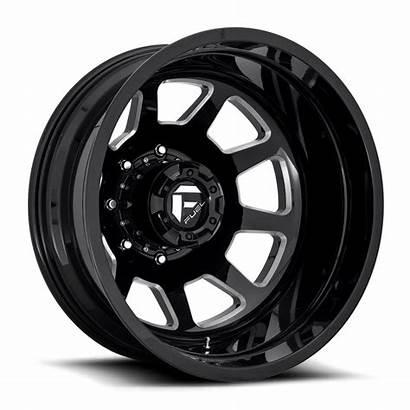 Wheels Rear Dually Fuel Milled Gloss Wheel