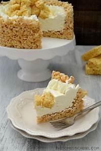 Rice Krispy Treat No Bake Cheesecake | The Domestic Rebel