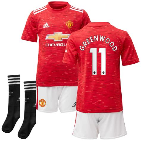 Manchester United Home Mini Kit 2020-21 with Greenwood 11 ...
