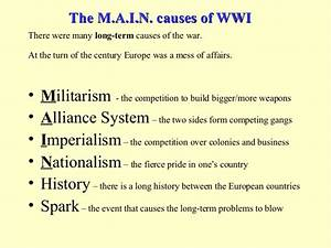 what were the four underlying causes of ww1