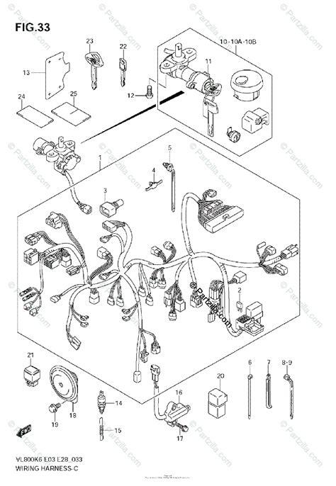 suzuki motorcycle  oem parts diagram  wiring