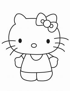 Free coloring pages of good hello kitty
