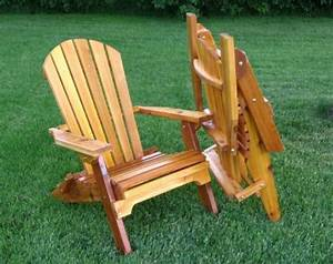 Folding Cedar Adirondack Chair W/stained Finish, Amish ...