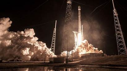 Falcon Spacex Launch Night Space Os Canaveral
