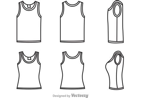 tank top template tank top template vectors free vector stock graphics images