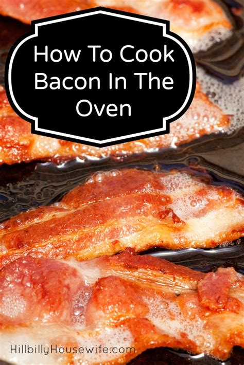 cook bacon   oven hillbilly housewife