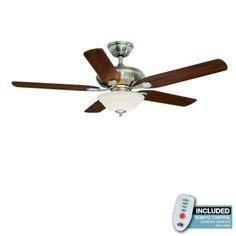 52 inch brookhurst ceiling fan hton bay sedalia ii 52 in brushed nickel ceiling fan