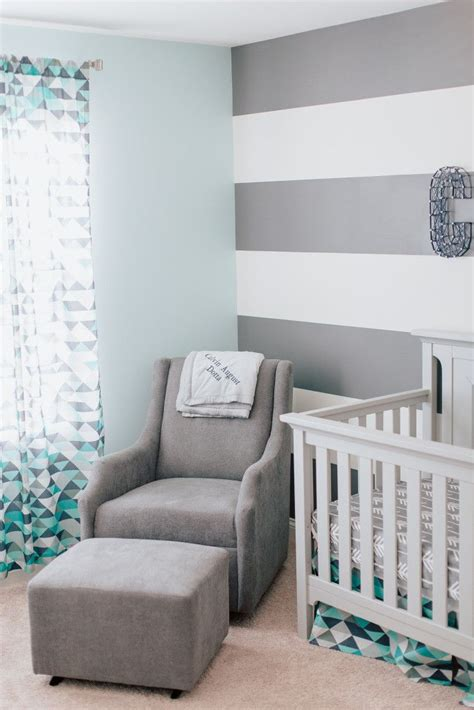 That time you're expecting a new life into the world is special, and part of the joy is creating a space for your infant that's as imaginative and homey as beautify your little one's room with a cascading array of the moon and stars. Calvin's Modern Blue and Gray Nursery | Baby room colors, Boy room paint, Baby room decor