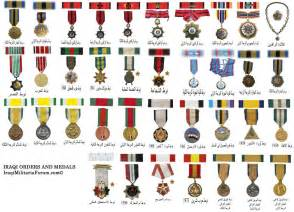 iraqi military orders medals and ribbon chart middle