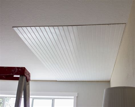 Wainscoting Sheets by Installing Beadboard Paneling On Ceiling Www