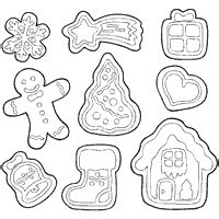 This gingerbread man coloring sheet is perfect for a class party or class gift for your little one's friends! Christmas Sugar Cookies » Coloring Pages » Surfnetkids
