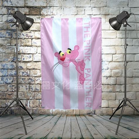 My only recommendation to the seller would be to offer frames as well. THE PINK PANTHER Large Rock Flag Banners Four Hole Wall Hanging Painting Bedroom Studio Party ...