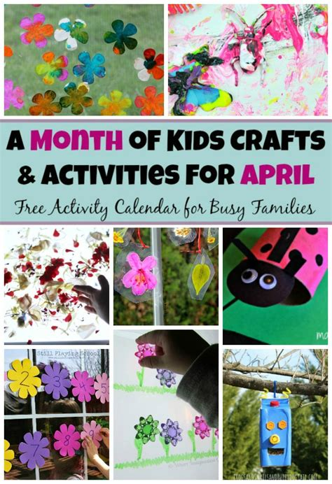 30 preschool crafts amp activities for april where 548 | 30 days April preschool crafts activities spring 1 1